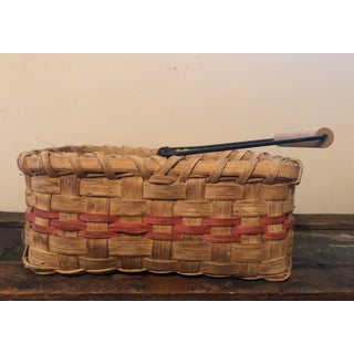 Vintage Basket With Wire and Wooden Handle Preview