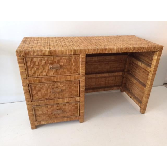 Bielecky Brothers 1980s Boho Chic Bielecky Brothers Writing Desk For Sale - Image 4 of 13
