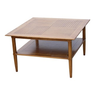 1950s Mid-Century Modern Tomlinson Pecan Coffee Table For Sale