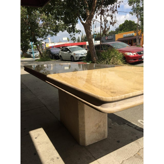 1960s Italian Travertine Dining Table For Sale - Image 10 of 13