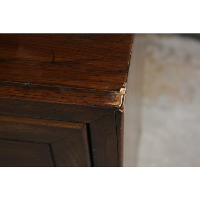 Brass Campaign Style 7-Drawer Dresser For Sale - Image 7 of 11