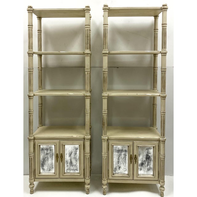 Late 20th Century Late 20th-C. Gustavian or Swedish Style Etageres / Bookshelves - Pair For Sale - Image 5 of 6