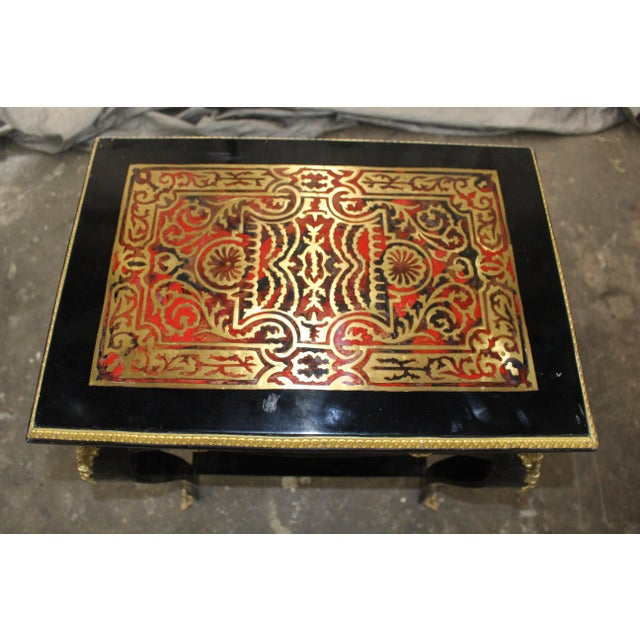 19th Century Art Noveau Boulle Occasional Tables - a Pair For Sale - Image 4 of 10