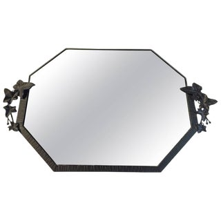 French Art Deco Floral Mirror For Sale