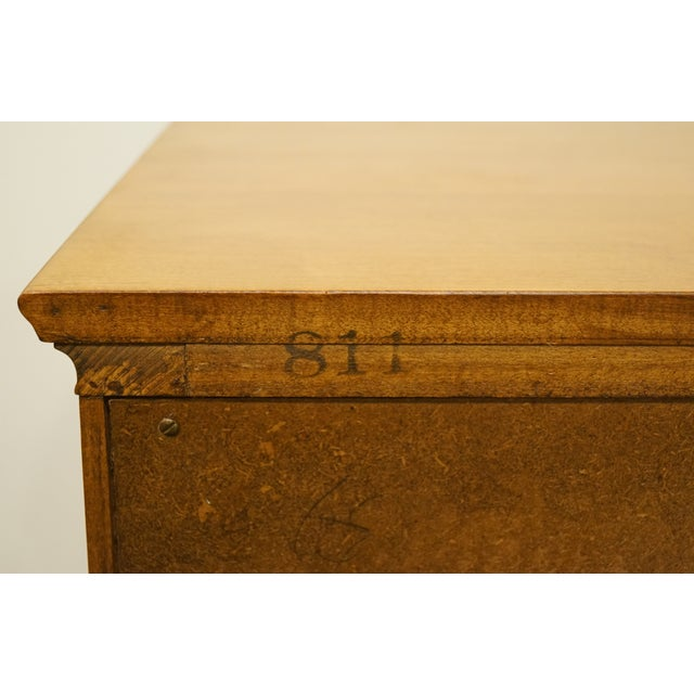 "Statton Trutype Americana Solid Maple Colonial Style 56"" Double Dresser For Sale - Image 12 of 13"