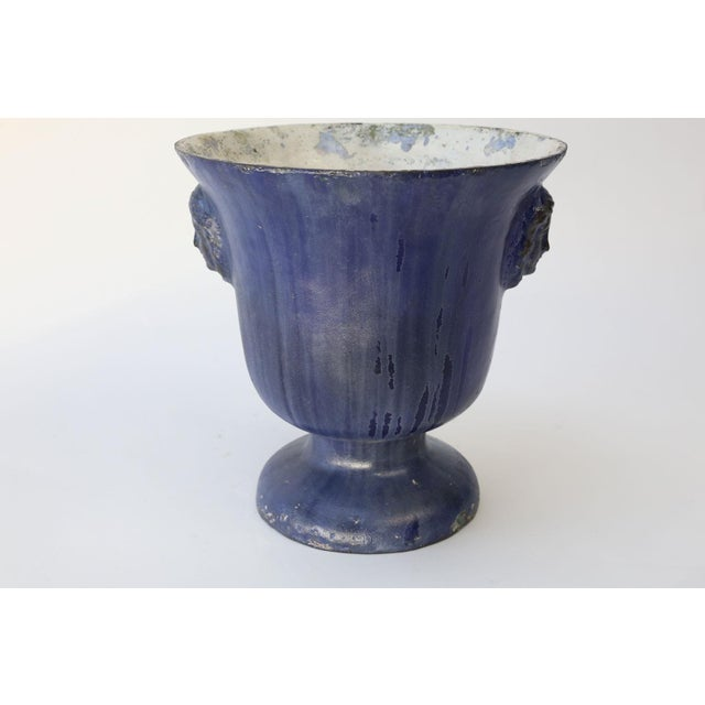 French Cast Iron Enamel Rouen Urn For Sale - Image 3 of 10