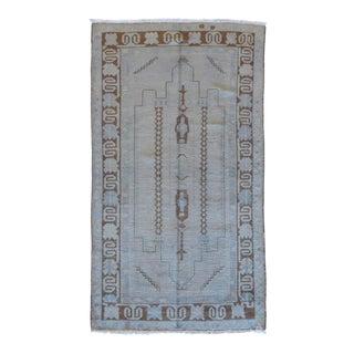 Vintage Turkish Oushak Rug - 3′3″ × 6′