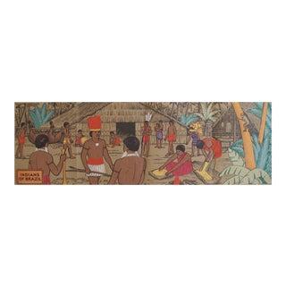 Original 1940 American Panel Poster, Indians of Brazil