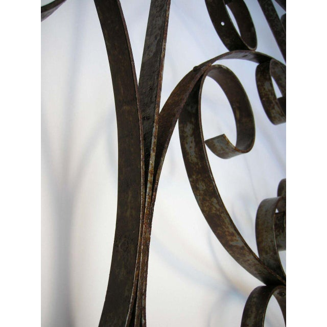 Metal Large Scale Decorative Iron Architectural Arch For Sale - Image 7 of 10