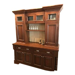 Traditional Custom Free-Standing Hutch Cabinet Unit