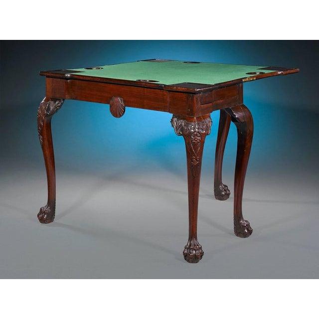 Georgian 18th Century Mahogany Irish Games Table For Sale - Image 3 of 6