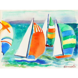 Lucille Marie Johnston Spinnakers at Sunset 1981 For Sale