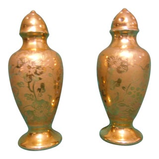 Stouffer Vintage Gold Salt & Pepper Shakers
