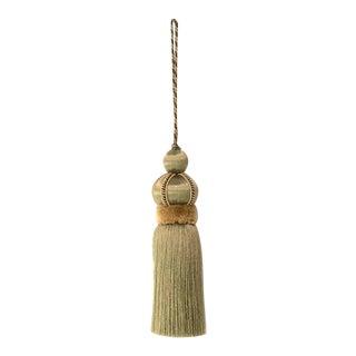 """Olive Green Key Tassel With Cut Velvet Ruche - Should say """"Olive Green Key Tassel With Cut Velvet Ruche"""" For Sale"""