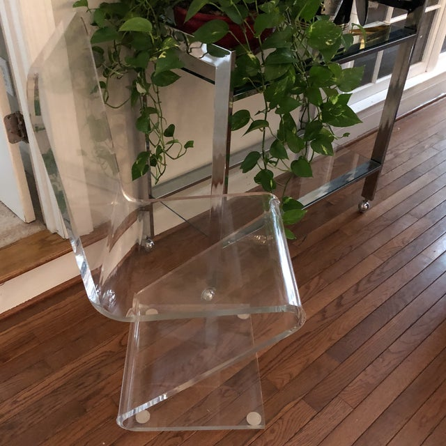 Vintage Z Lucite Side Chair For Sale - Image 5 of 9