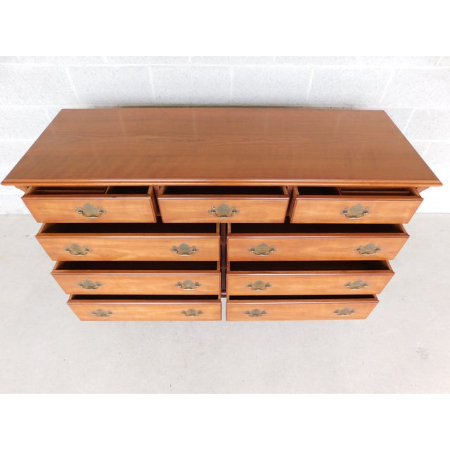 """Chippendale Kindel Chippendale Style 9 Drawer Dresser 62""""w For Sale - Image 3 of 13"""