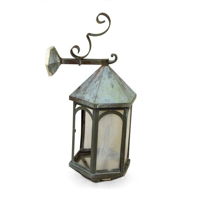 Antique Lantern Sconce For Sale - Image 4 of 9