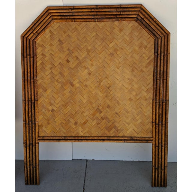 Asian Carved Faux Bamboo Twin Headboards, a Pair - Taiwan For Sale - Image 3 of 10