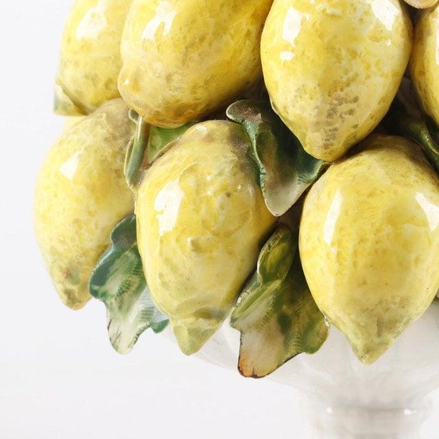 Vintage Mid-Century Italian Ceramic Lemon Centerpiece For Sale - Image 4 of 11