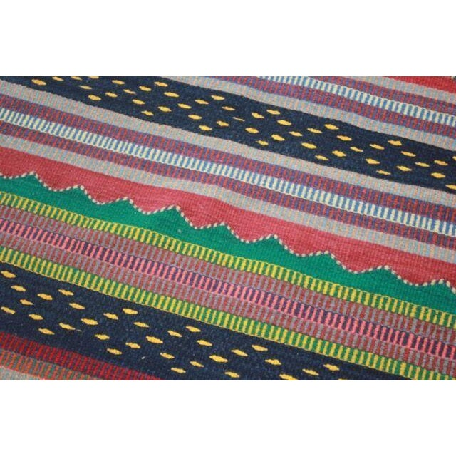 Mexican Pedal-Loom Striped Rug - 2′7″ × 4′10″ - Image 4 of 5