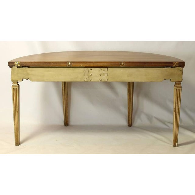 Neoclassical Folding Demilune Table For Sale - Image 4 of 10