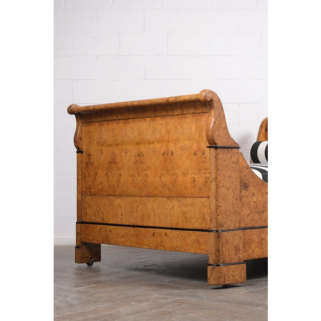 Early 19th Century French Empire-Style Burled Daybed For Sale - Image 4 of 12