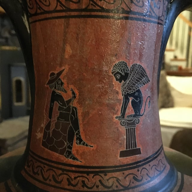 Greek Double Handle Vase - Image 6 of 10