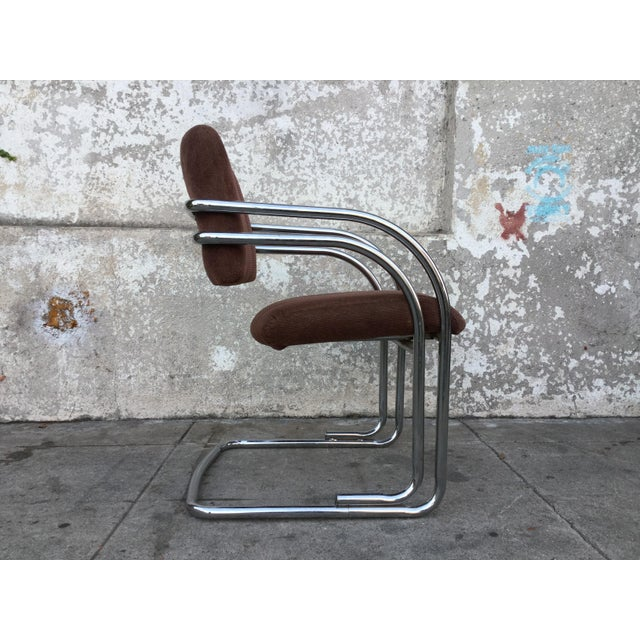 Set of Four Milo Baughman Chrome Dining Chairs - Image 3 of 5