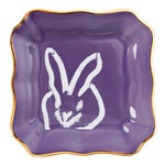 Hunt Slonem Lilac Bunny Portrait Plates - Set of 2