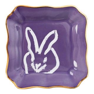 Hunt Slonem Lilac Bunny Portrait Plates - Set of 2 For Sale