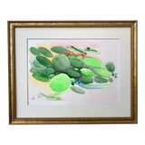 Image of Vintage Mid Century Watercolor Abstract Forms For Sale