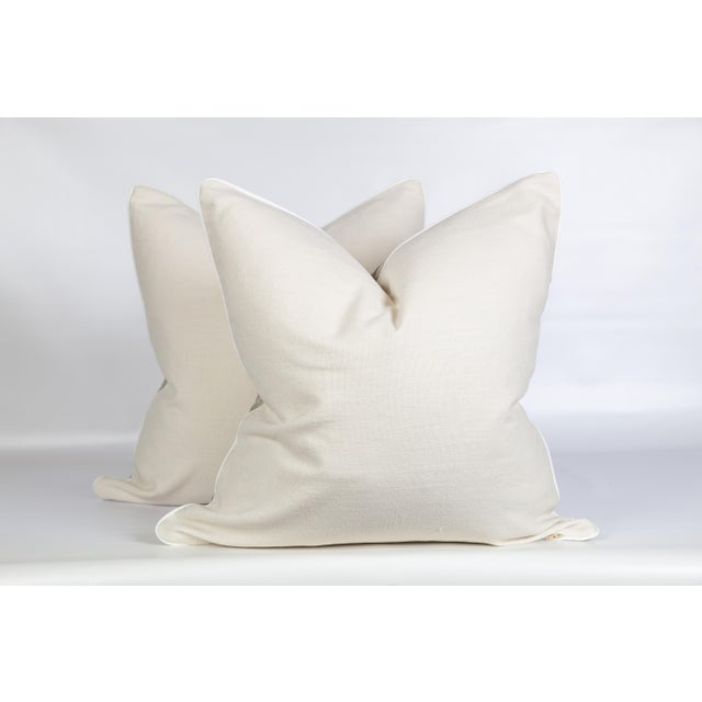Linen Serpent Abstract Pillows, a Pair For Sale - Image 4 of 6