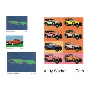 Bundle- 4 Assorted Andy Warhol Pop Art Car Posters For Sale