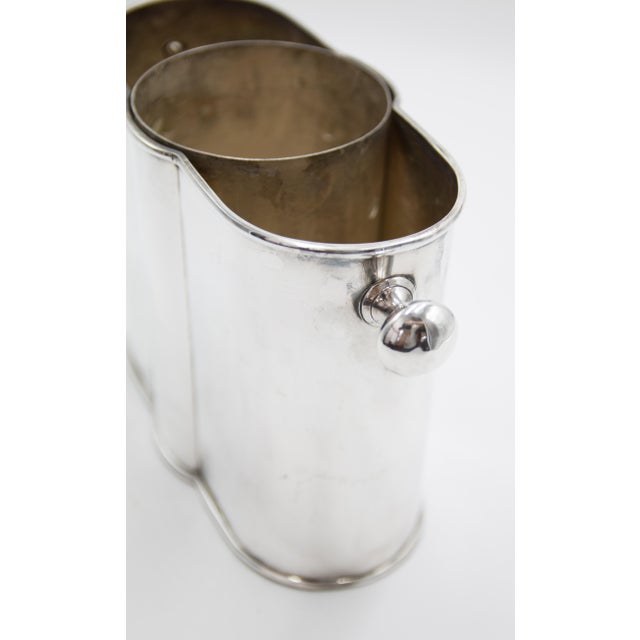 Early 20th Century French Art Deco Silver Plate Champagne Bucket Wine Cooler For Sale - Image 5 of 9