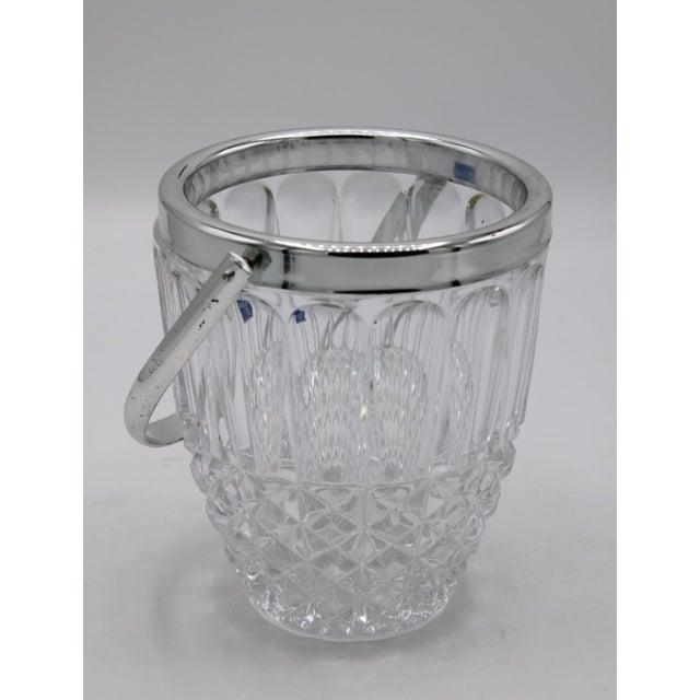 Mid-Century Crystal Ice Bucket For Sale - Image 6 of 6