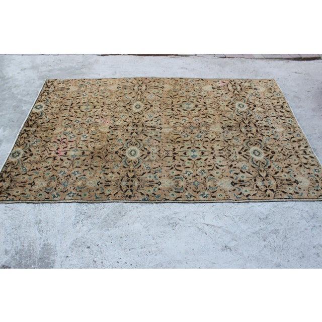 Handmade Anatolian Oushak Wool Rug - 4′4″ × 7′1″ For Sale - Image 4 of 6