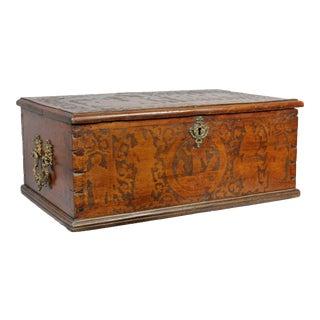 17th Century Italian Baroque Walnut Box For Sale