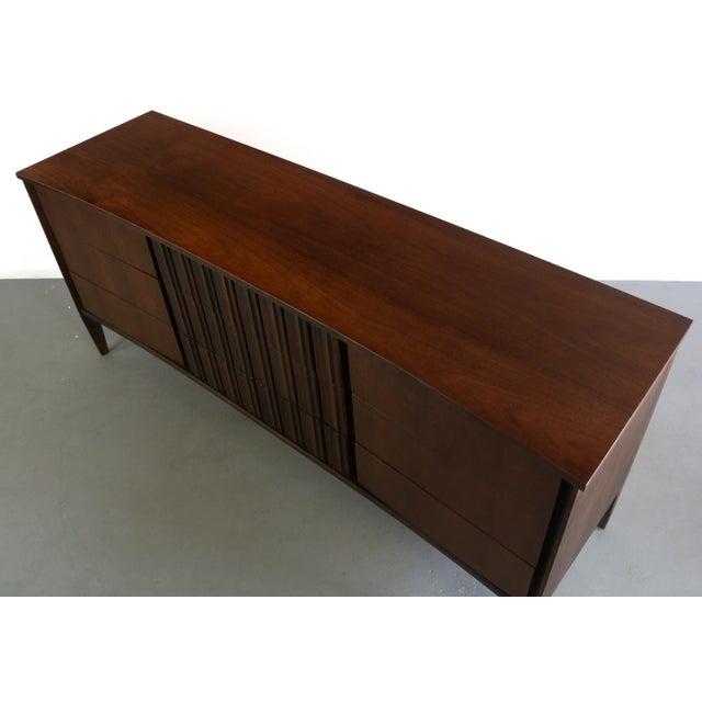 Mid-Century Modern Exceptional Contoured Dresser / Credenza by Edmond Spence, Sweden For Sale - Image 3 of 8