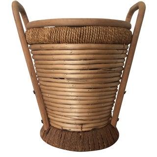 1970s Rattan Bucket