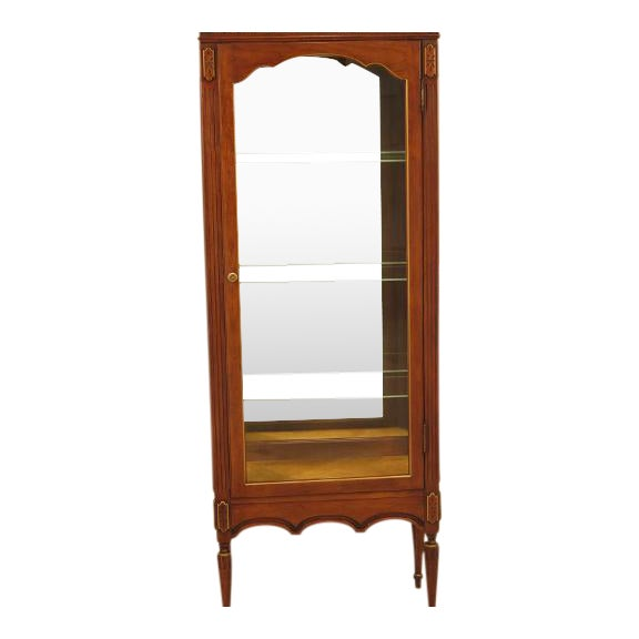 Louis XVI-Style Walnut Vitrine Curio Cabinet - Image 1 of 11