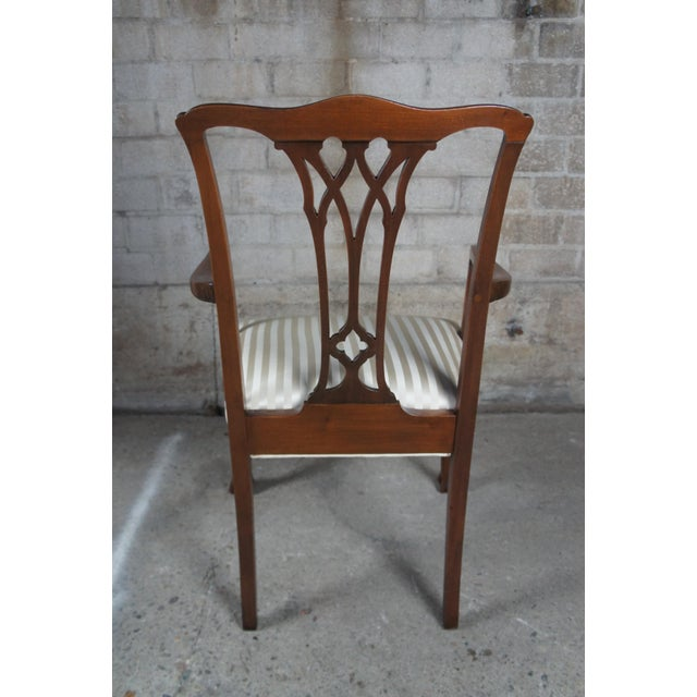 Chippendale Style Mahogany Dining Arm Chair, Ball & Claw Feet For Sale - Image 10 of 12