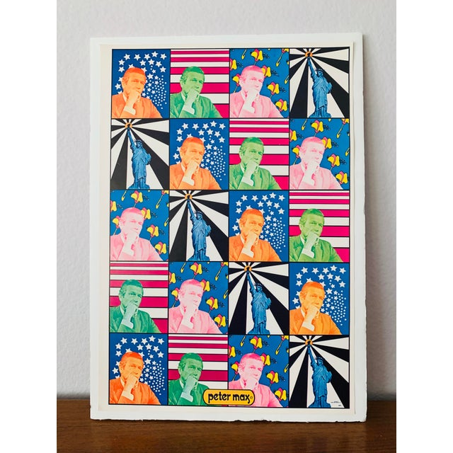Blue Peter Max Iconic New York City Images Print For Sale - Image 8 of 10