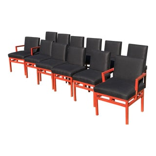1940s Asian Modern Chairs- Set of 12 For Sale
