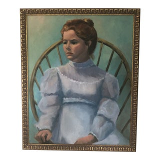 """""""Young Girl in Windsor Chair"""" Painting For Sale"""