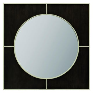 Caracole Modern Black Peppercorn Finished Wall Mirror For Sale