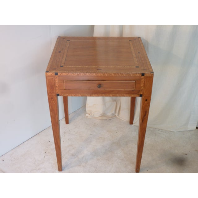 19th Century Continental Inlay Side Table For Sale In Boston - Image 6 of 6