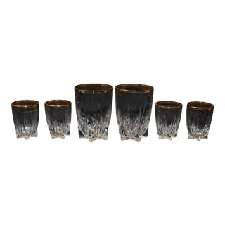 "Federal Glass ""Park Avenue"" Glasses - Set of 6"