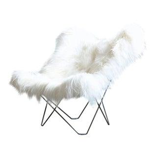 Modern White Mariposa Fur Chair For Sale