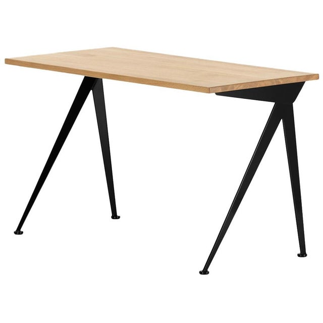 Jean Prouvé Compas Direction Desk in Natural Oak and Black Metal for Vitra For Sale - Image 9 of 9