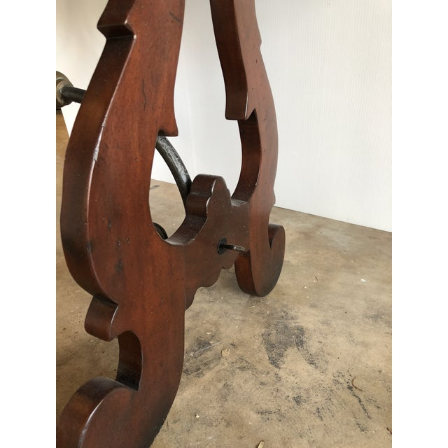 Brown Spanish Colonial Style Wood and Iron Lift Top Desk For Sale - Image 8 of 9